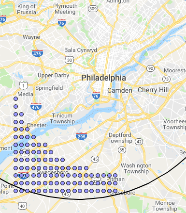 Channel points for Philadelphia